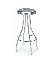 Swivel Backless Counter Stool Stainless Steel