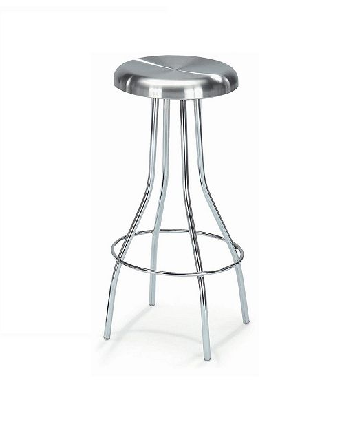Miraculous Swivel Backless Counter Stool Stainless Steel Machost Co Dining Chair Design Ideas Machostcouk