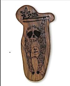 finn + emma 100% Organic Sloth Wood Rattle