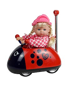 "13"" My First Doll with Ladybug Rideon"