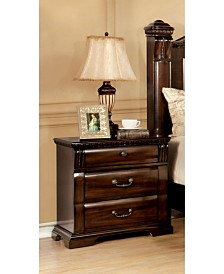 Oulette 3-drawer Nightstand