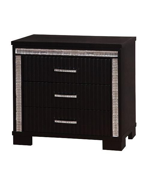Furniture of America Clarice Modern 3-drawer Nightstand