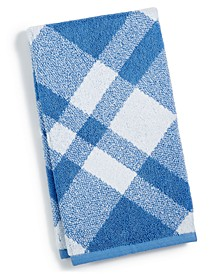 """Plaid Cotton 16"""" x 30"""" Hand Towel, Created for Macy's"""