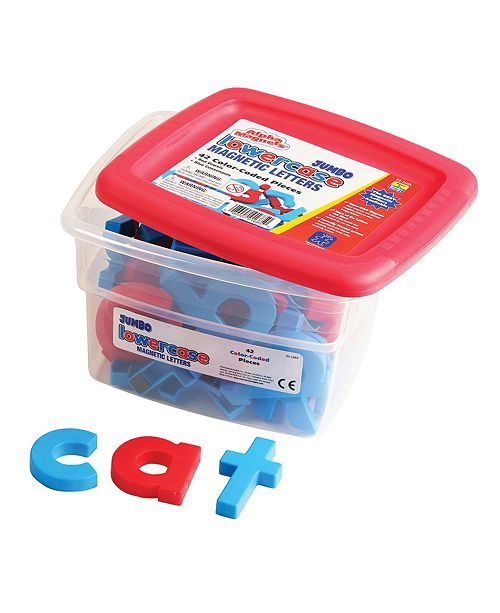Learning Resources Educational Insights Jumbo Alphamagnets Color-Coded Lowercase Set of  42