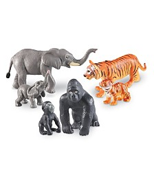 Learning Resources Jumbo Jungle Animals - Mommas and Babies Set of 6