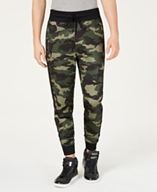 GUESS Men's Keith Camo Track Pants