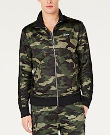 GUESS Men's Keith Camouflage Track Jacket