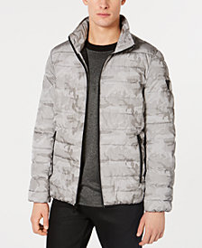 GUESS Men's Camo Puffer Jacket