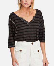 Free People Head in the Clouds Striped Top
