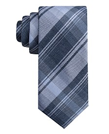 Ryan Seacrest Distinction™ Men's Pamplona Plaid Slim Tie, Created for Macy's