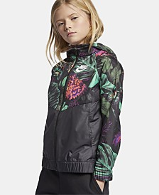 Nike Big Girls Sportswear Hooded Windrunner Jacket