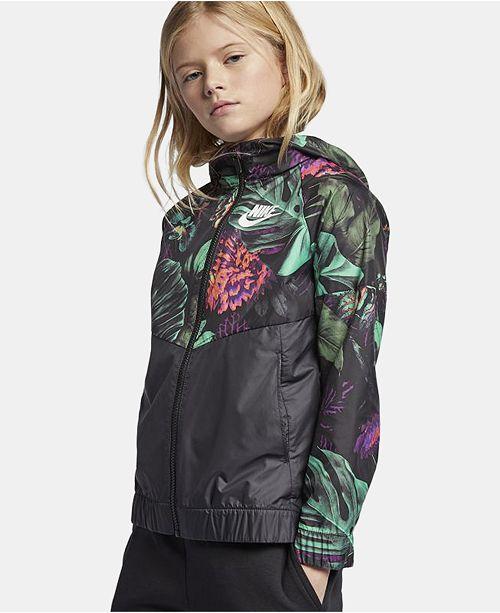 b306a76e33b Nike Big Girls Sportswear Hooded Windrunner Jacket & Reviews - Coats ...