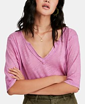 aa90a60b0c Free People Head In The Clouds V-Neck Top
