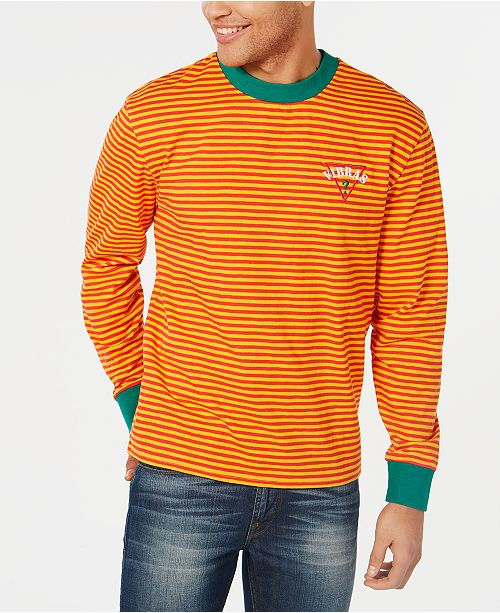 2d1257678 GUESS J Balvin X Men's Long-Sleeve Striped T-Shirt & Reviews - T ...