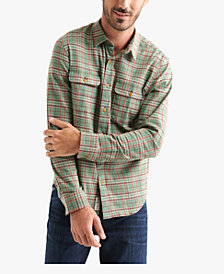 Lucky Brand Men's Stretch Plaid Dual Pocket Shirt