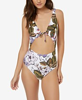 2087fe77a11bc O Neill Juniors  Allure Paradise Printed One-Piece Swimsuit