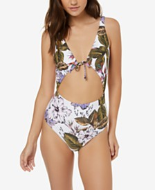O'Neill Juniors' Allure Paradise Printed One-Piece Swimsuit