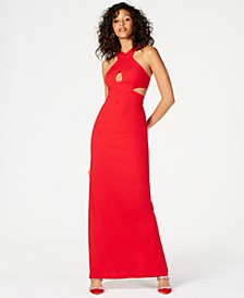 Sleeveless Cutout Scuba Gown