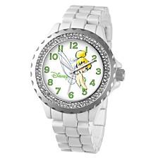 Disney Tinker Bell Women's White Alloy Enamel Spark Watch 41mm