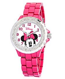 Disney Minnie Mouse Women's Pink Alloy Enamel Spark Watch