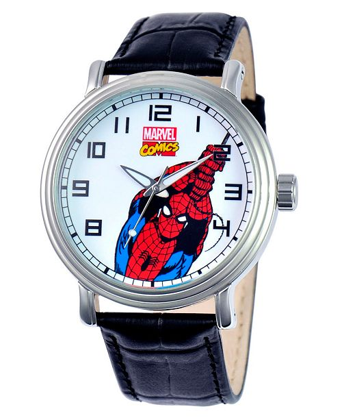 ewatchfactory Marvel Spider-Man Men's Vintage Silver Alloy Watch