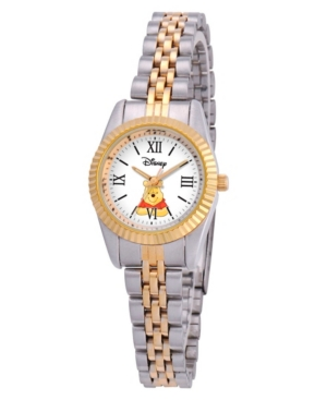 Disney Winnie Women's Two Tone Silver and Gold Alloy Watch