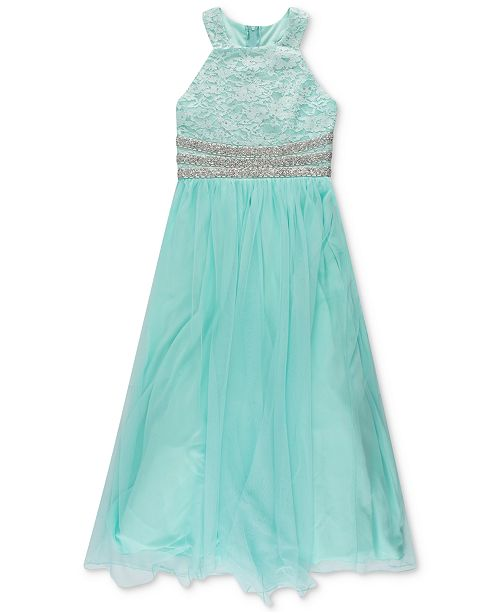 Speechless Big Girls Beaded Waist Dress