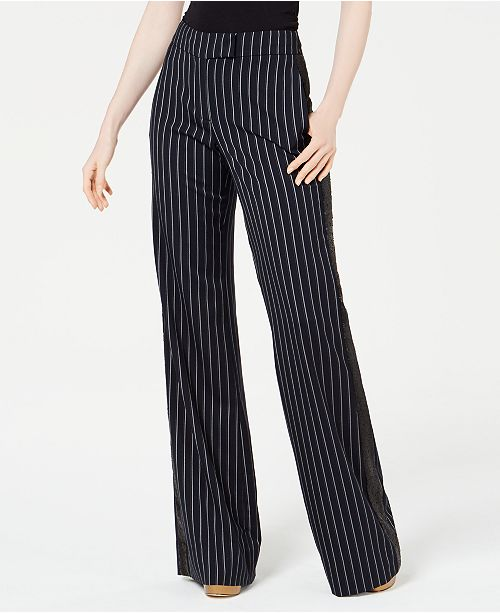 Rachel Zoe Josie Striped Sequined Pants