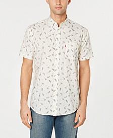 Men's Slim-Fit Tropical Drawings Shirt