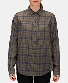 Juniors' Wilson Cotton Plaid Shirt