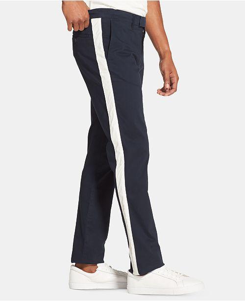 dbd2e0a1ce0dc DKNY Men's Side-Stripe Chino Pants & Reviews - Pants - Men - Macy's