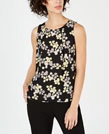 Nine West Printed V-Neck Top