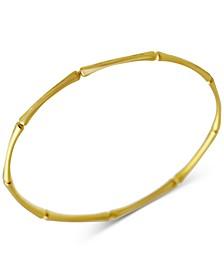 Bamboo-Look Bangle Bracelet in 14k Gold
