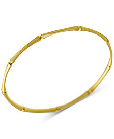Kesi Jewels Bamboo-Look Bangle Bracelet in 14k Gold