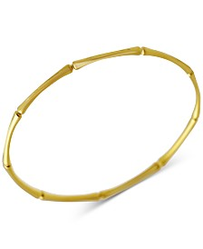 Kesi Jewels Bamboo-Look Bangle Bracelet in 14k Gold