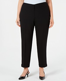 Kasper Plus Size Cuffed Pants
