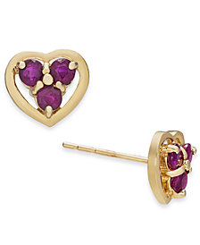 Ruby (5/8 ct. t.w.) Stud Earrings in 14k Gold