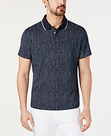 Alfani Men's Dot-Stripe Polo, Created for Macy's