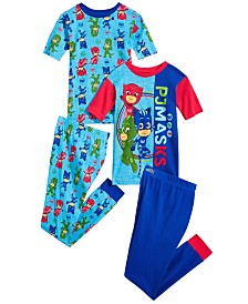 PJ Masks Little & Big Boys 4-Pc. PJ Masks Cotton Pajama Set