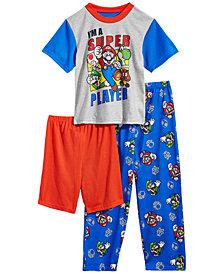 Mario Bros. Little & Big Boys 3-Pc. Super Mario Pajama Set