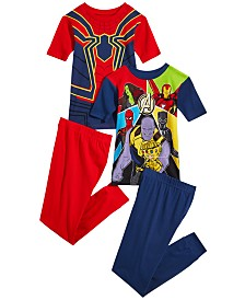 Marvel Little & Big Boys 4-Pc. Avengers Cotton Pajama Set