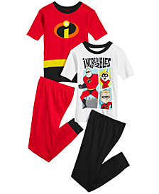 Disney Little & Big Boys 4-Pc. Incredibles Cotton Pajama Set