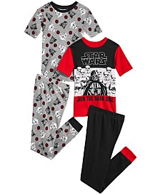 Star Wars  Little & Big Boys 4-Pc. Darth Vader Cotton Pajama Set