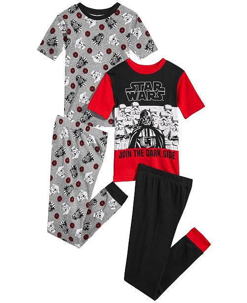 AME Star Wars  Little & Big Boys 4-Pc. Darth Vader Cotton Pajama Set