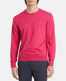 Calvin Klein Men's Basic Logo Solid Sweater