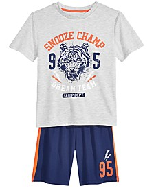 Max & Olivia Big Boys 2-Pc. Snooze Champ Pajama Set