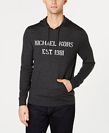 Michael Kors Men's Merino Wool Hoodie, Created for Macy's