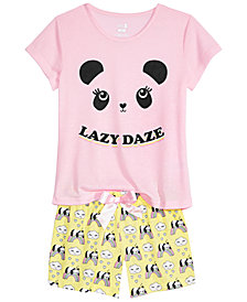 Max & Olivia Big Girls 2-Pc. Printed Pajama Set