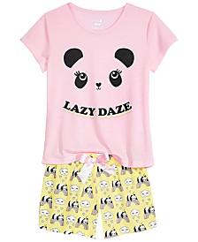 Max & Olivia Big Girls 2-Pc. Printed Pajama Set