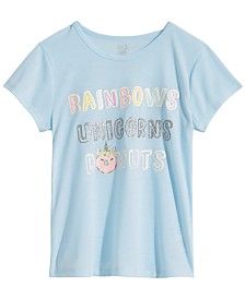Max & Olivia Big Girls Graphic-Print Pajama Top, Created for Macy's
